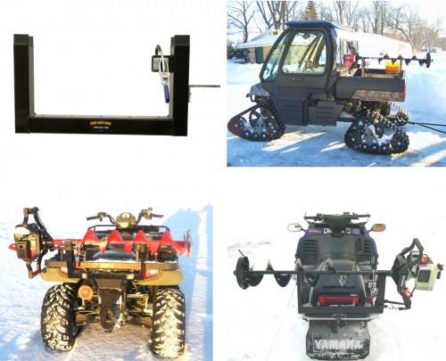 Ice Auger Mount For Four Wheeler Snowmobile Amp Utv Ice