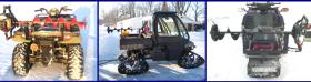 Ice Auger Mount for Four Wheeler, Snowmobile & UTV