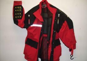 Ice fishing safety jacket with floation
