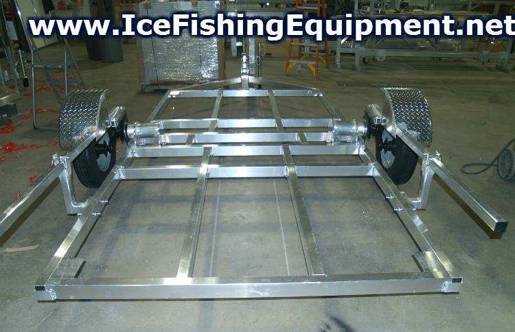 Pin fish house frames on pinterest for Crank down fish house axles
