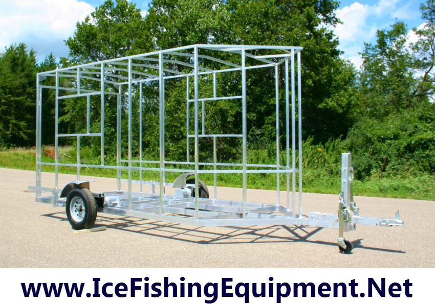 Pin fish house frames on pinterest for Aluminum fish house frame