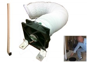 Ice fishing shanty floor heater circulator