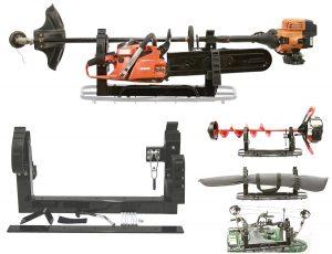 ice auger bow gun chainsaw mount for atv utv snowmobile